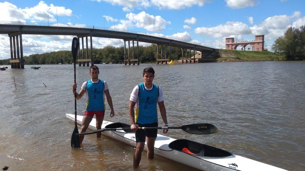 Manu Orero y Andrés Gutérrez, los palistas del CRNBE en el selectivo de maratón.